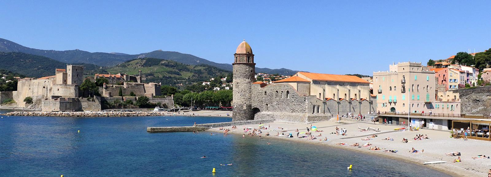 Plage Saint Vincent à Collioure
